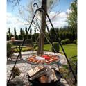 Dreibein Schwenkgrill mit Grillrost aus Stahl - als Ergänzung zur Feuerschale
