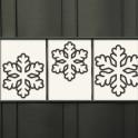 Wintermotiv für den Zaun - Schneeflocken