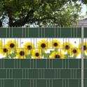 Gartenzaun mit Sonnenblumenmotiv