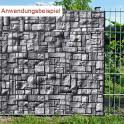 Sichtschutzstreifen Motiv Steinlabyrinth - Anwendung