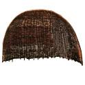 Strandmuschel aus Weidengeflecht