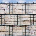 Sandsteinmauer Motiv Tessin im Gittermattenzaun