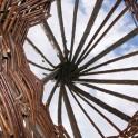 Kinderspielhaus - Tipi stabile Korbweide - Dach