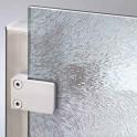 Glasscheibe Glaswand System Vetro | Struktur Glas Chinchilla