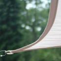 Stabile Verarbeitung Dreiecksonnensegel mit Regenschutz