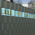 Kreativstreifen mit Kohlmeisen - im Gittermattenzaun