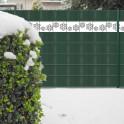 PVC Zaunstreifen mit Schneeflocken-Motiv