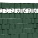 Kombination mit grünen Sichtschutzstreifen PVC Design Streifen Motiv Merano