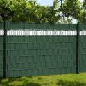 Zaun - grün PVC Design Streifen Motiv Merano