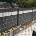 Sichtschutzzaún M-tec Profi -line ® PVC Streifen anthrazit  weiss