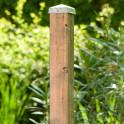 Zaunpfosten Natur  - ungebeizt - mit Pfostenabdeckung (als Zubehör erhältlich)