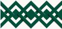 PVC Design Streifen Motiv Karo - Tape-weiß - moosgrün-3er Pack