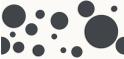 PVC Design Streifen Motiv Kreise-weiß - anthrazit-3er Pack
