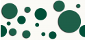 PVC Design Streifen Motiv Kreise-weiß - moosgrün-3er Pack