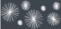 PVC Design Streifen Motiv Linienstern-anthrazit - weiß-3er Pack