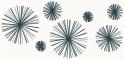 PVC Design Streifen Motiv Linienstern-weiß - anthrazit-3er Pack