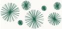 PVC Design Streifen Motiv Linienstern-weiß - moosgrün-3er Pack