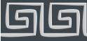 PVC Design Streifen Motiv Mäander-anthrazit - hellgrau-3er Pack