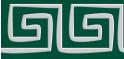 PVC Design Streifen Motiv Mäander-moosgrün - hellgrau-9er Pack