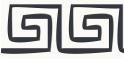 PVC Design Streifen Motiv Mäander-weiß / anthrazit-3er Pack