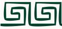 PVC Design Streifen Motiv Mäander-weiß - moosgrün-3er Pack