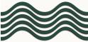 PVC Design Streifen Motiv Wave-weiß - moosgrün-3er Pack