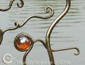 Gartenpflanzstange handgefertigt |  Kugel Orange